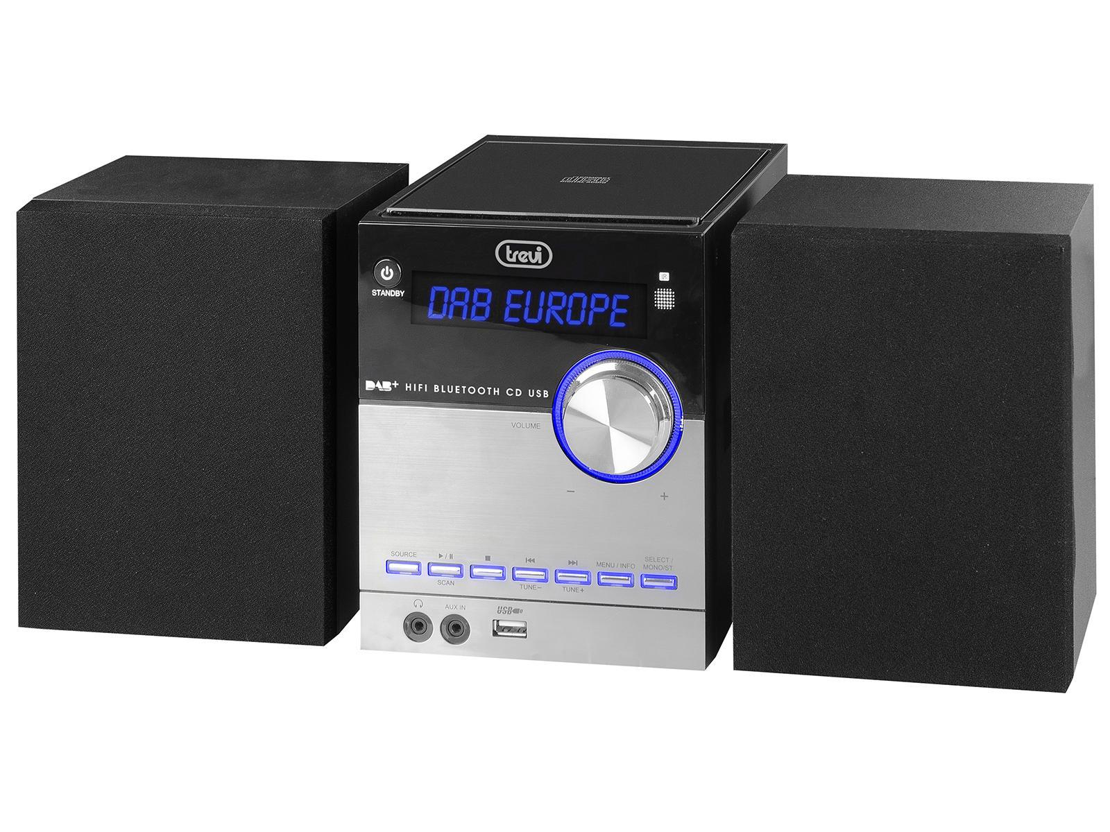 Trevi 0H10D800 set audio da casa Mini impianto audio domestico Nero, Argento