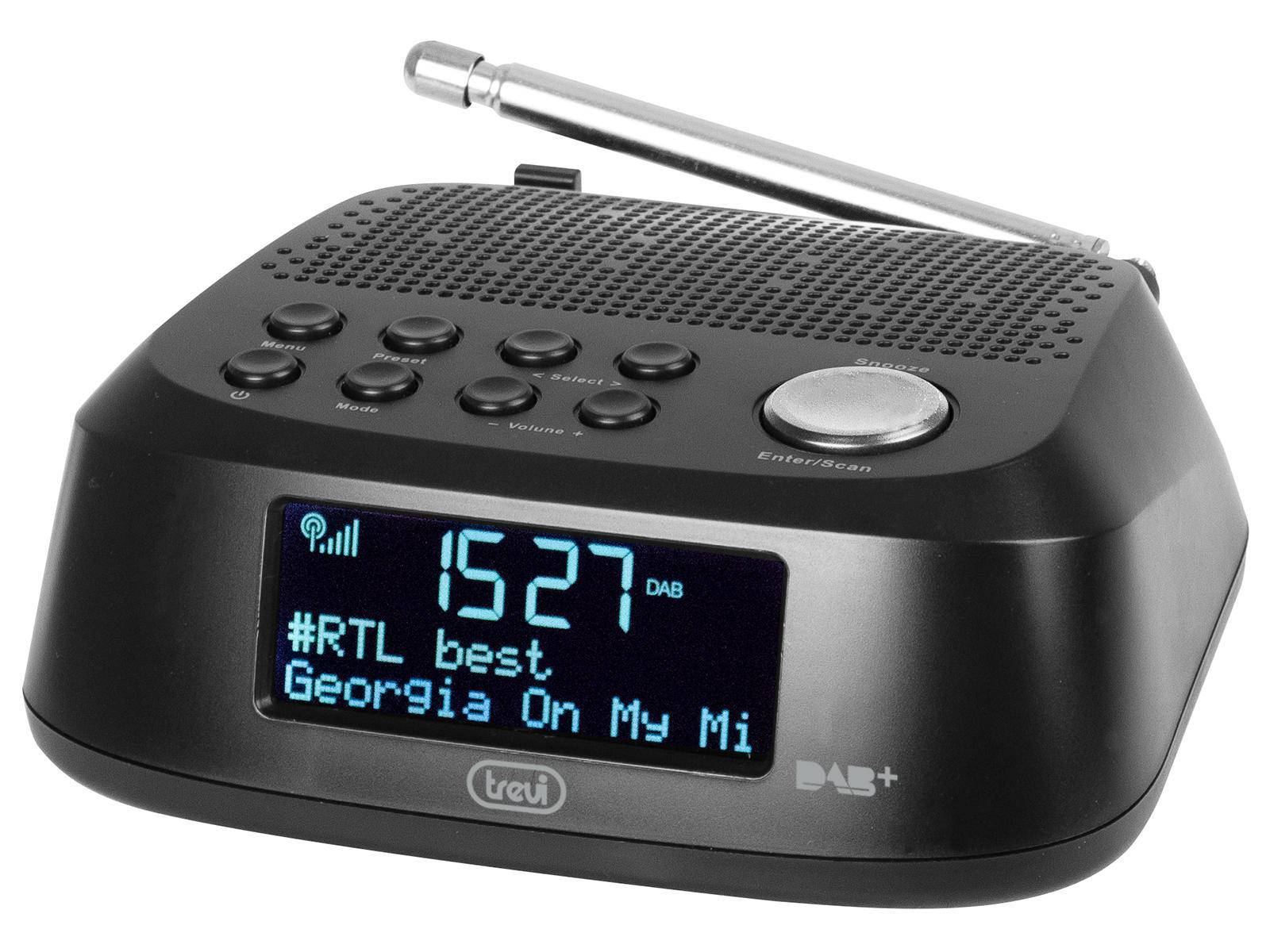 Trevi RC 80D4 DAB radio Orologio Digitale Nero