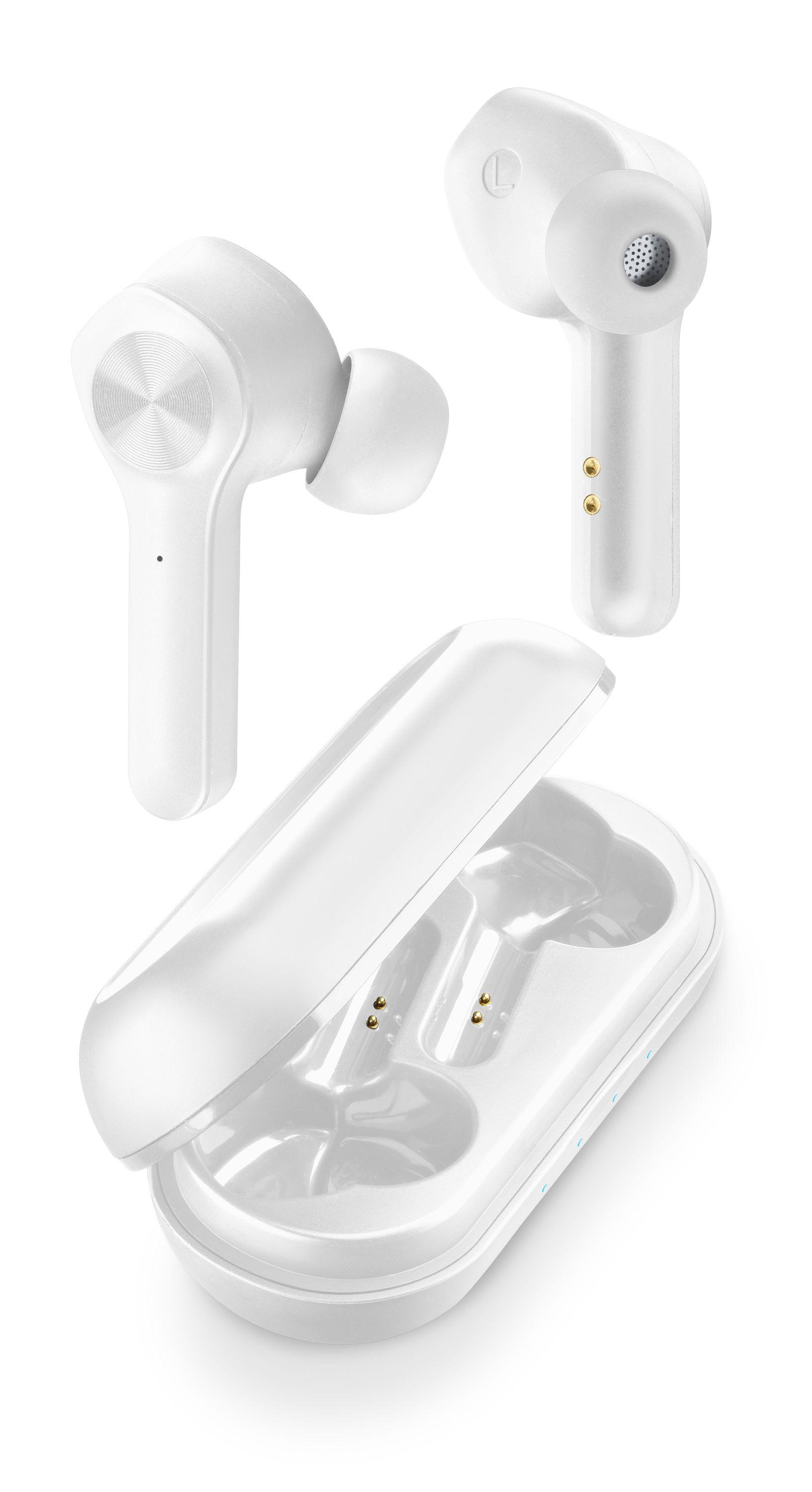 Cellularline Elusion - Universale Auricolari in-ear True wireless con custodia di ricarica Bianco