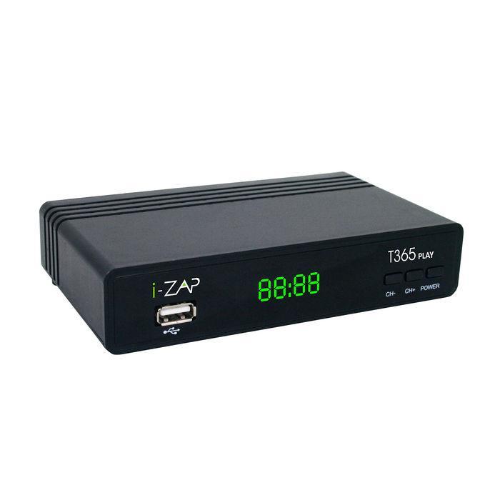 ADB I-ZAP T365 Play Cavo, Ethernet (RJ-45), Terrestre HD Nero