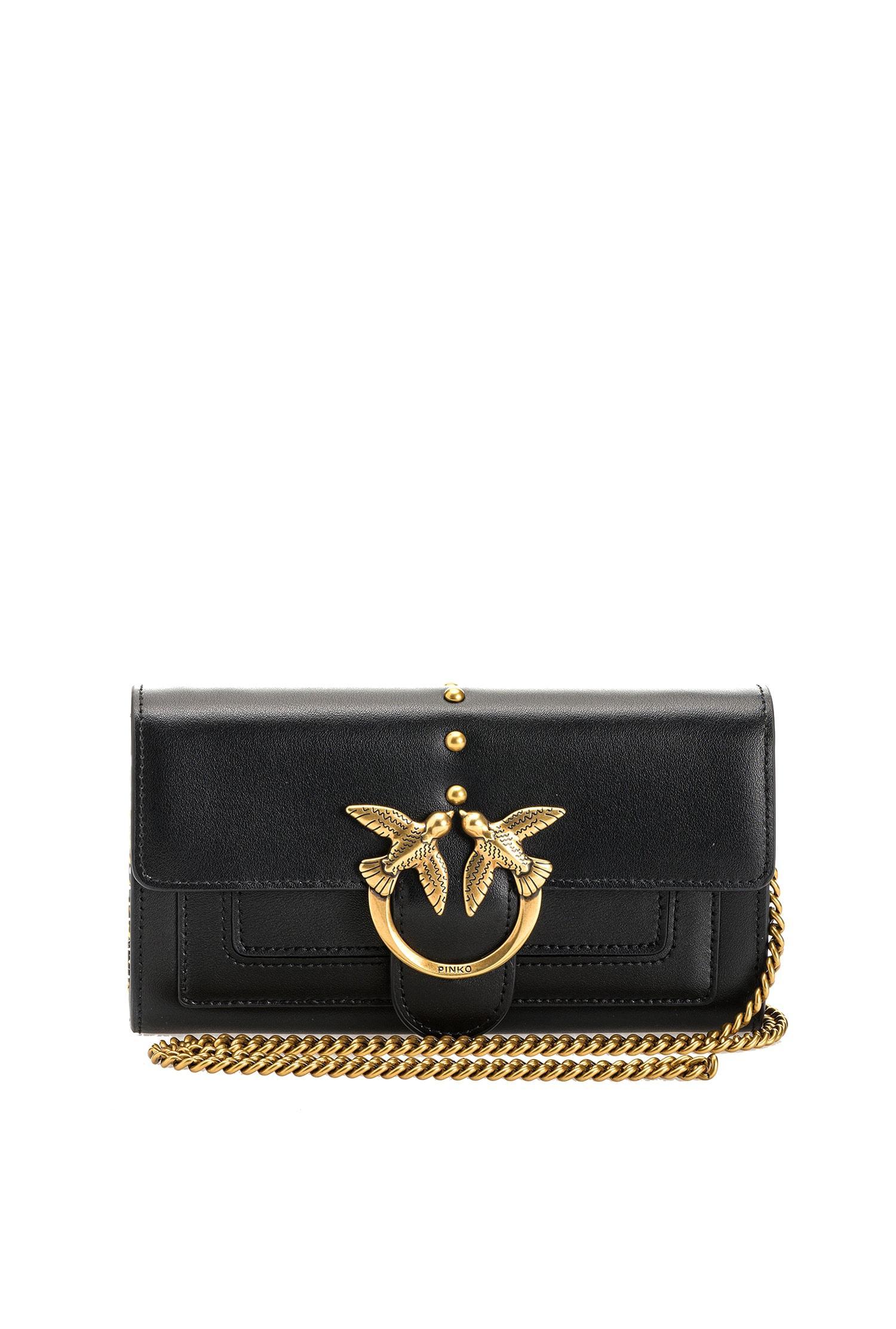 Portafoglio Love wallet simply 3 nero Pinko