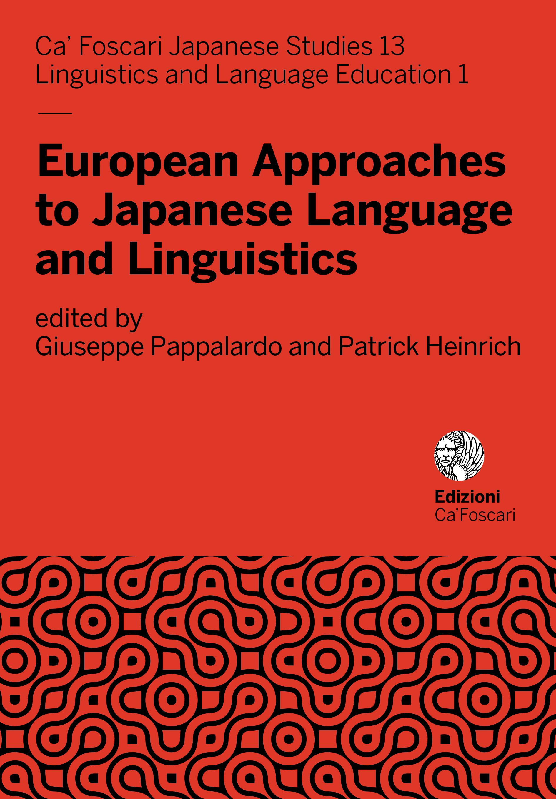 European Approaches to Japanese Language and Linguistics