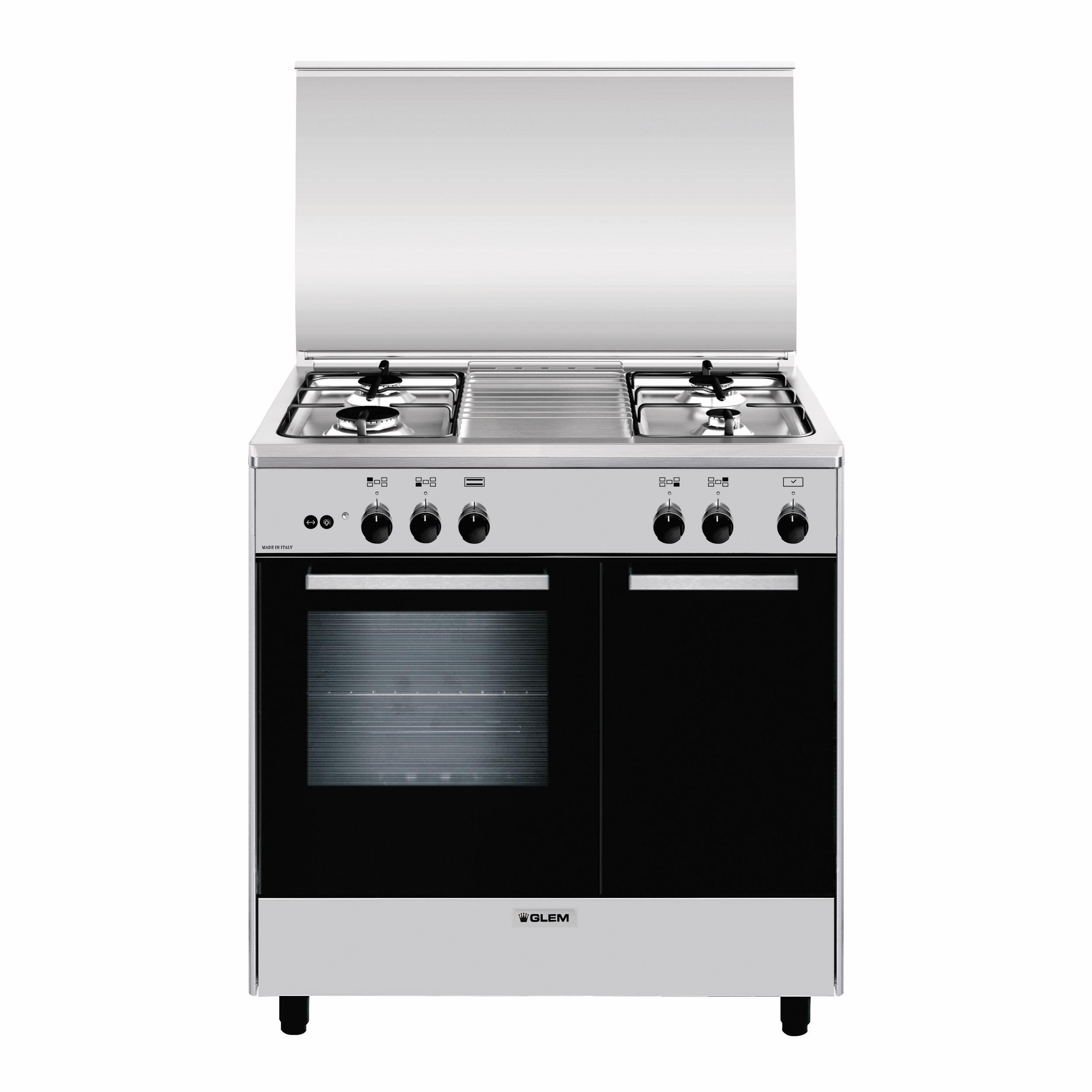 Glem Gas AR854GI cucina Piano cottura Titanio A