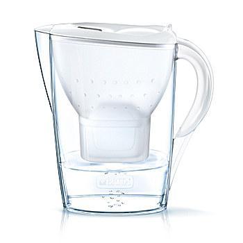 Brita Marella Caraffa filtrante 2,4 L Trasparente, Bianco