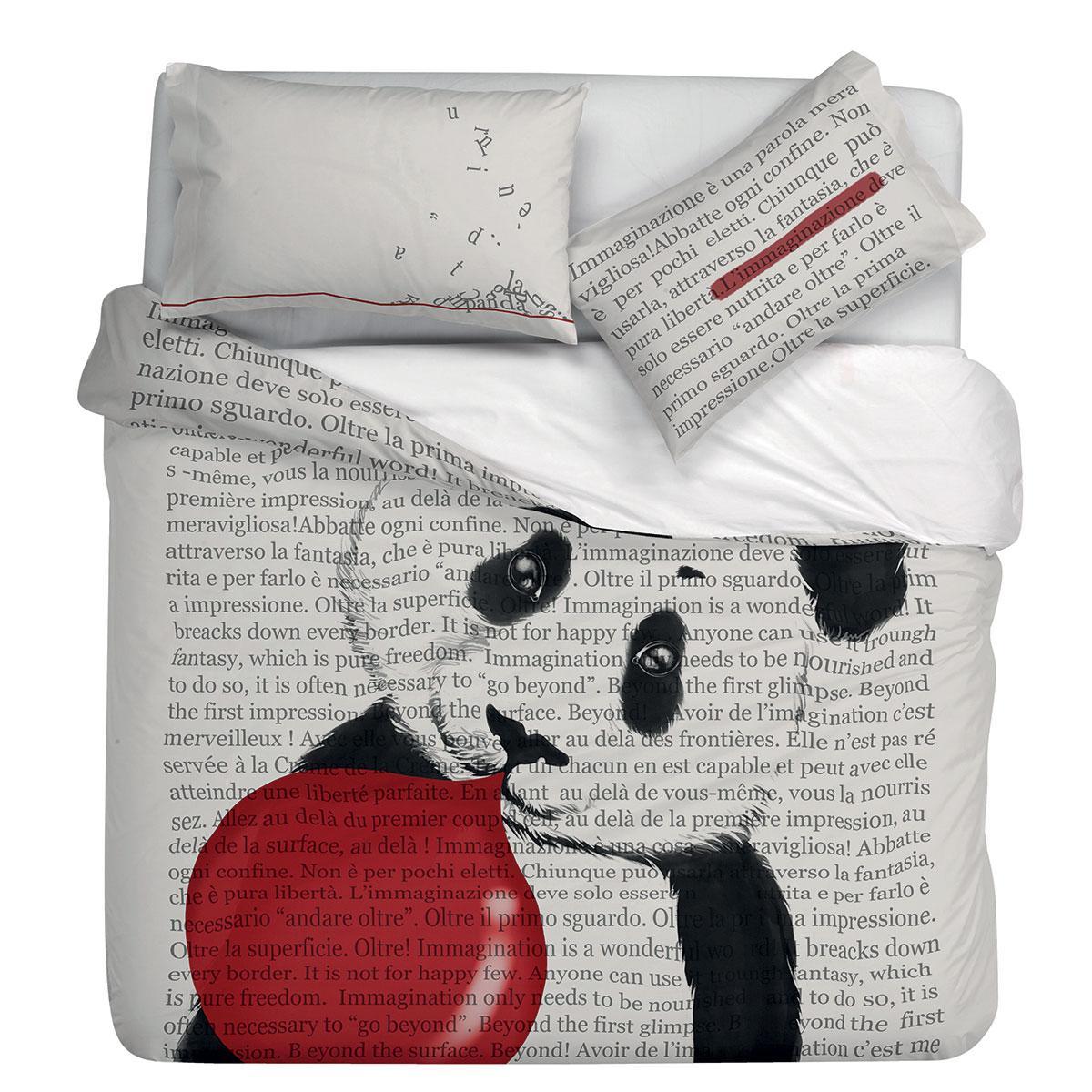 Duvet Cover With Pillowcases In Cotton Gabel Beyond Digital Panda Print
