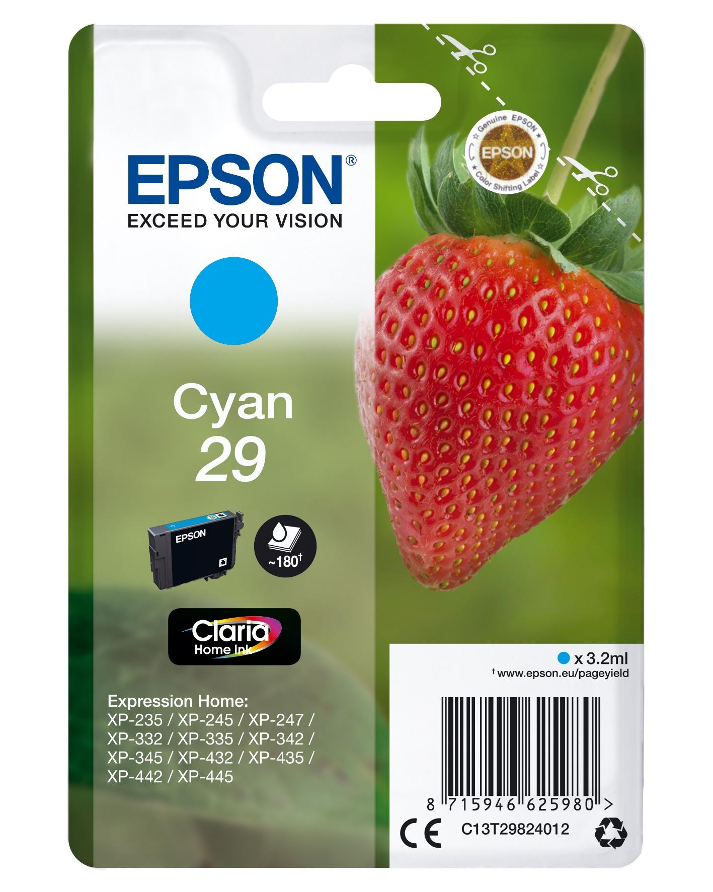 Epson Strawberry 29 C Originale Ciano 1 pezzo(i)