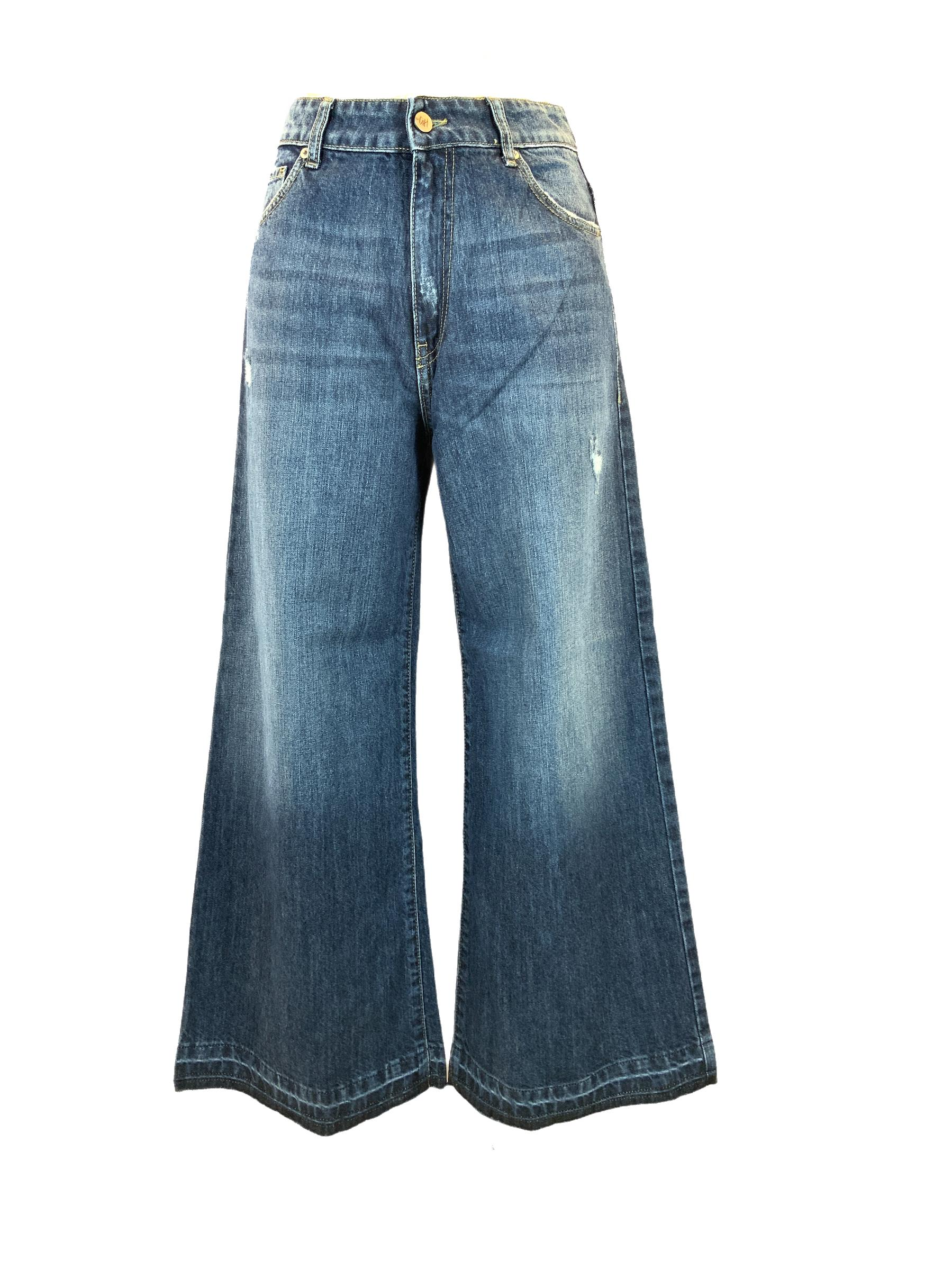 JEANS CROPPED SCURO