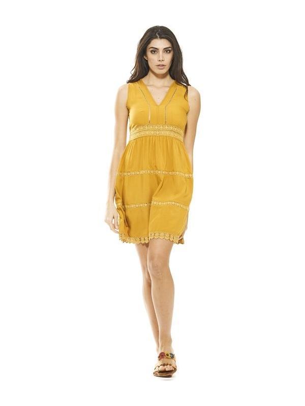 Abito corto giallo ocra   Abbigliamento donna online