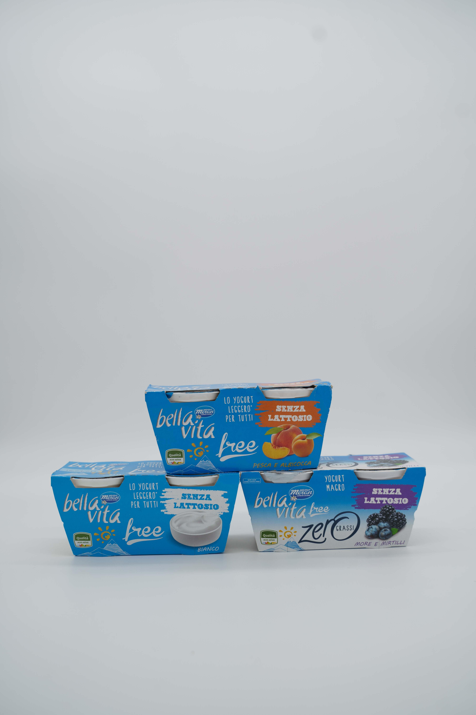 Merano yogurt bella vita senza lattosio 2X125gr vari tipi.