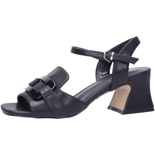 Sandalo in nappa nero Jeannot