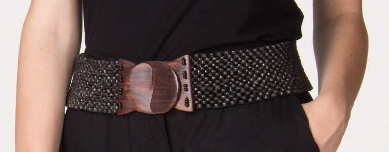 Cintura in legno nero | Cinture artigianali on line