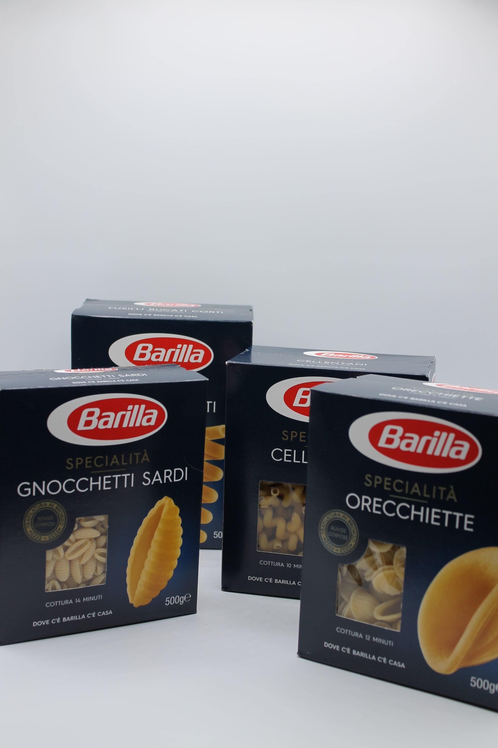 Barilla pasta specialità 500gr assortita.