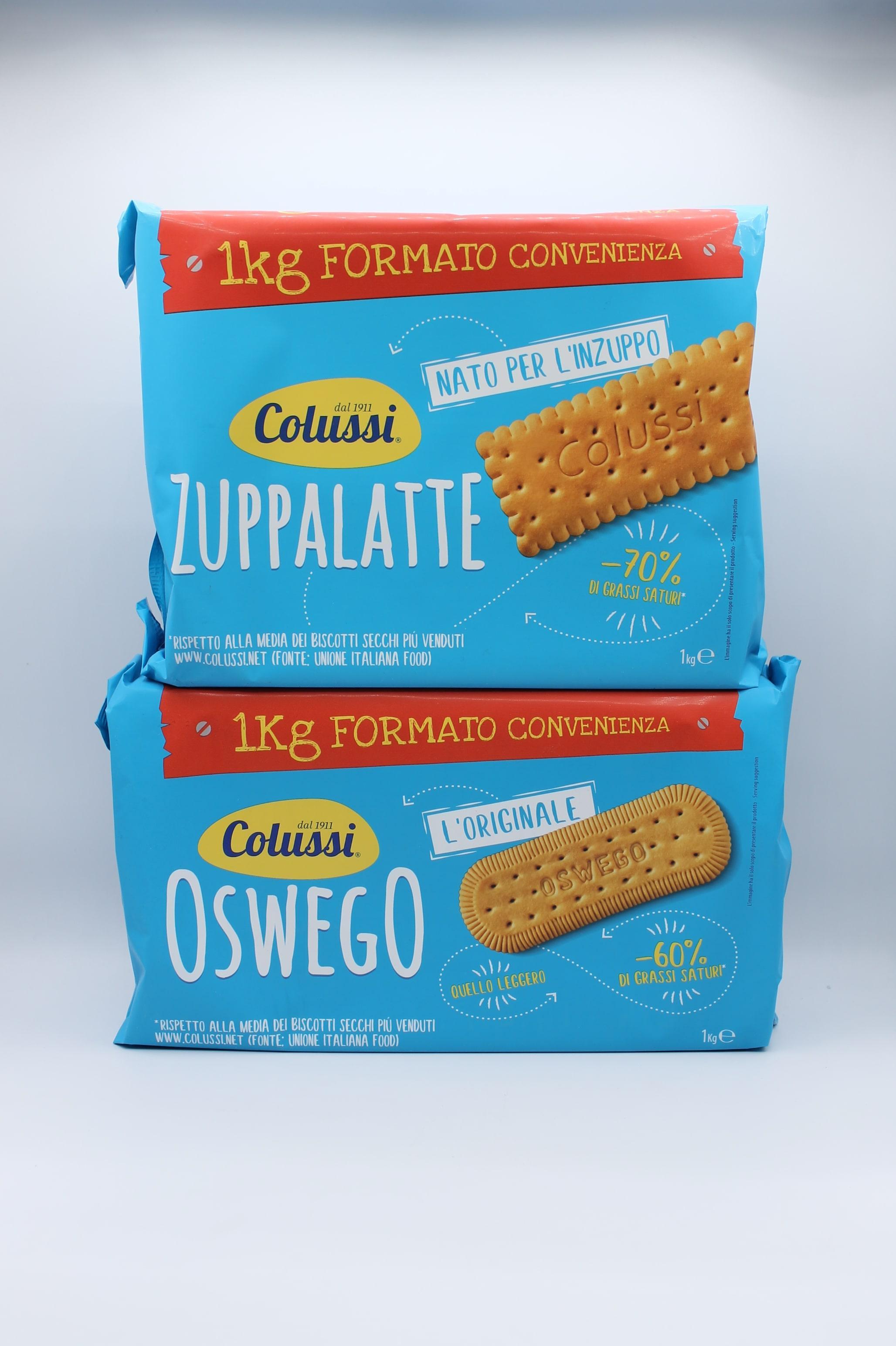 Colussi biscotti 1 kg vari gusti.