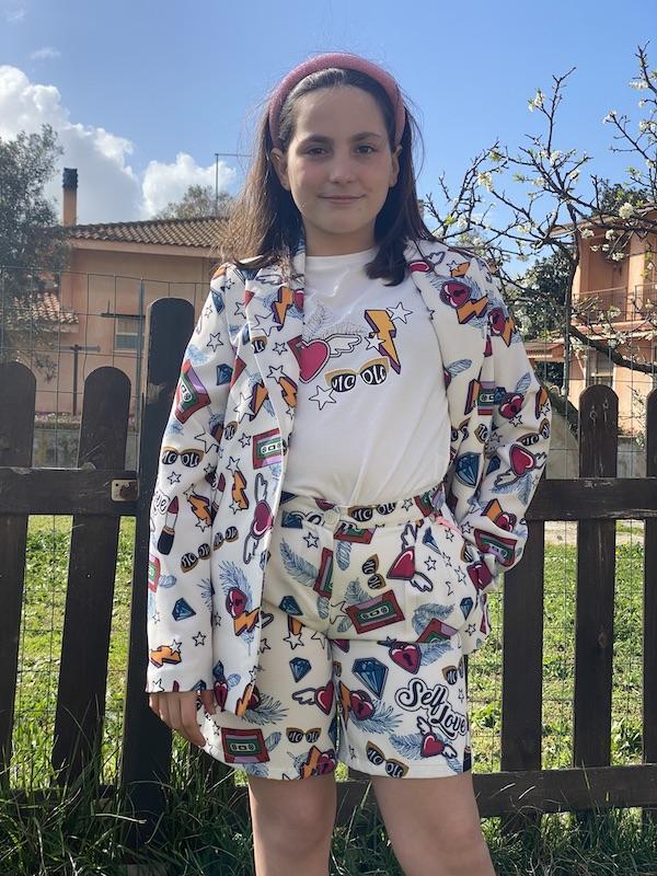 Shorts Bambina Vicolo Girl fantasia Pop