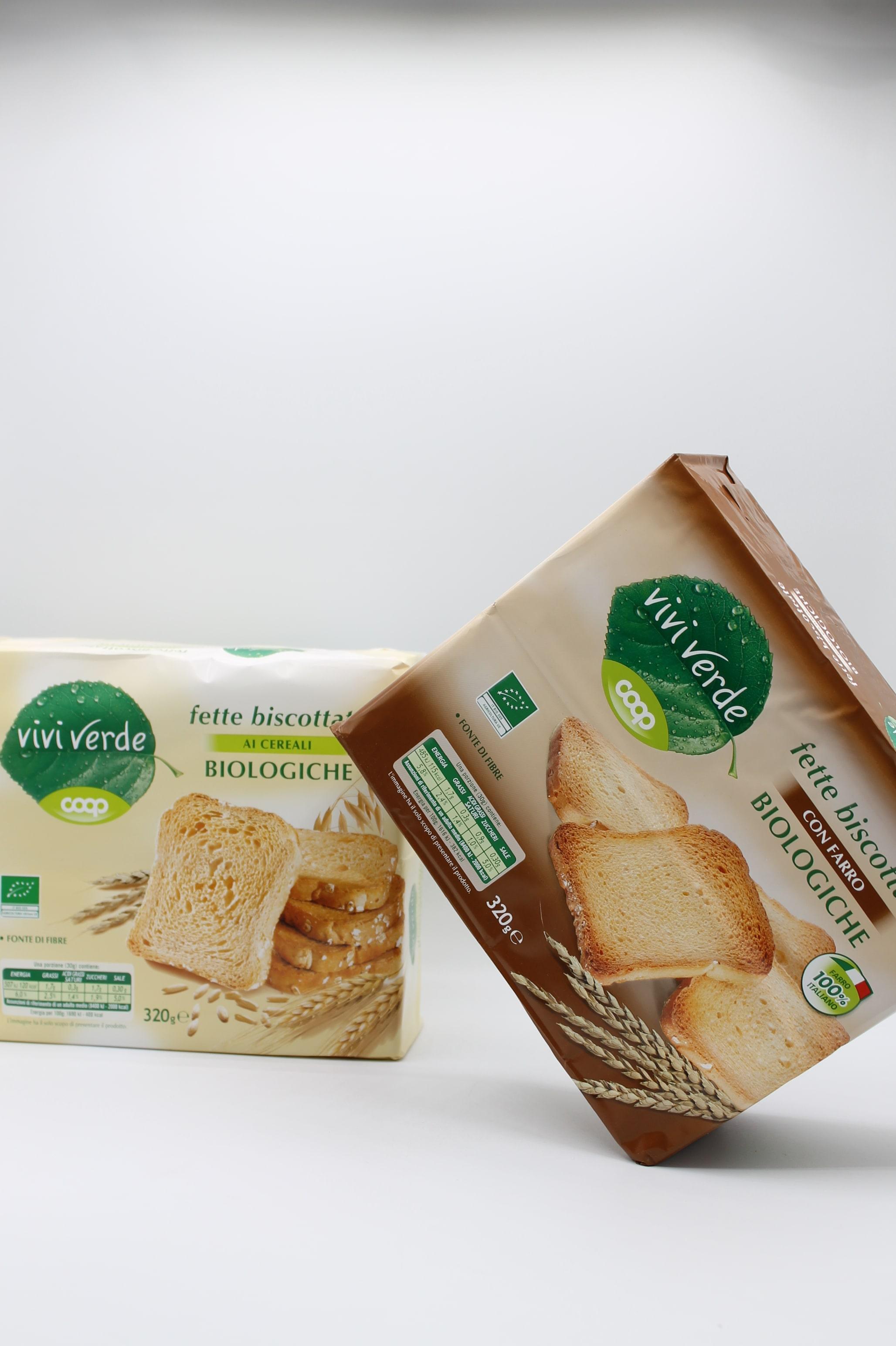 Viviverde coop fette biscottate bio 320gr vari tipi.