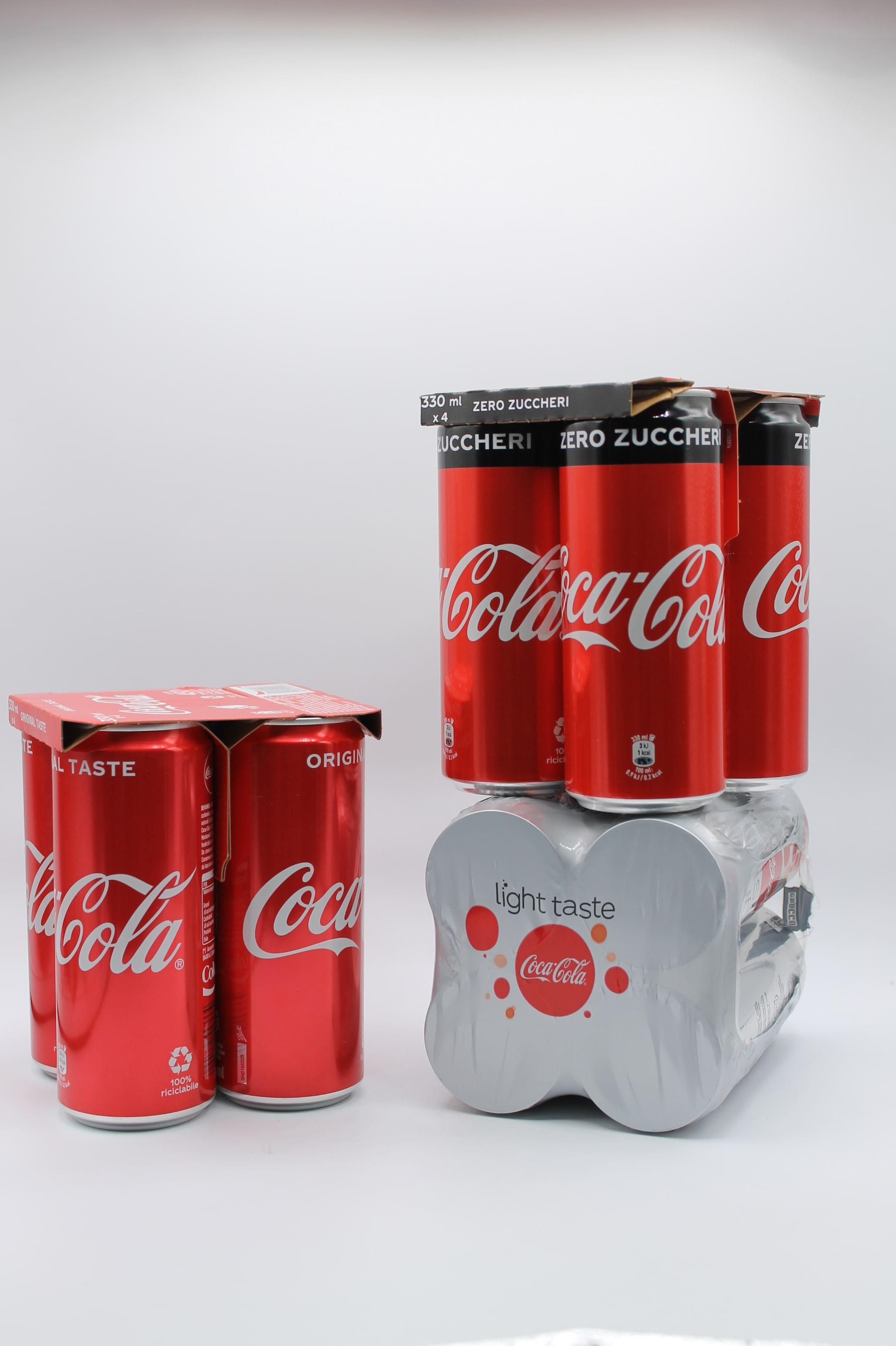 Coca cola lattina 4x330 vari tipi.