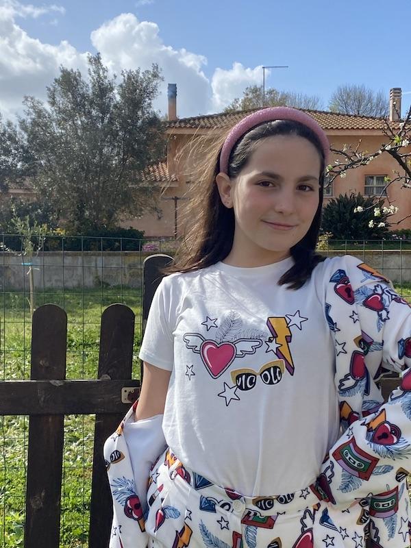 Tshirt bambina Vicolo Girl  fantasia Pop