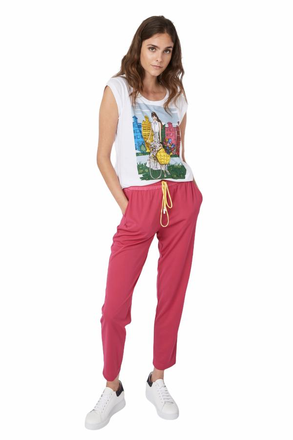LUCKYLU PANTALONE JERSEY CON COULISSE