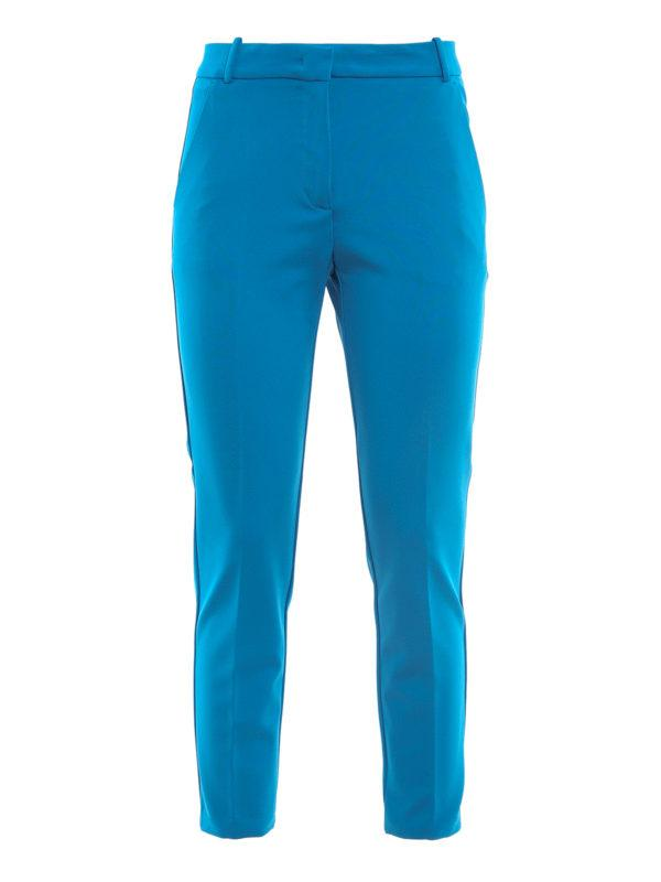 Pantalone Bello 100 cigarette-fit blu Pinko