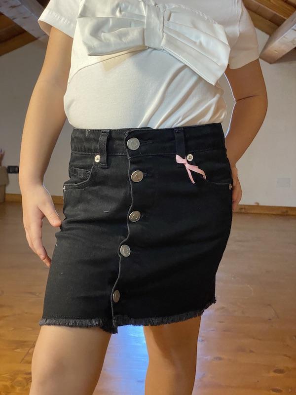 Minigonna Jeans con bottoni frontali Vicolo Bambina