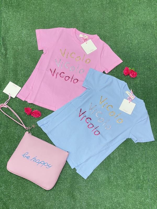 Tshirt Vicolo Bambina con loghi lurex