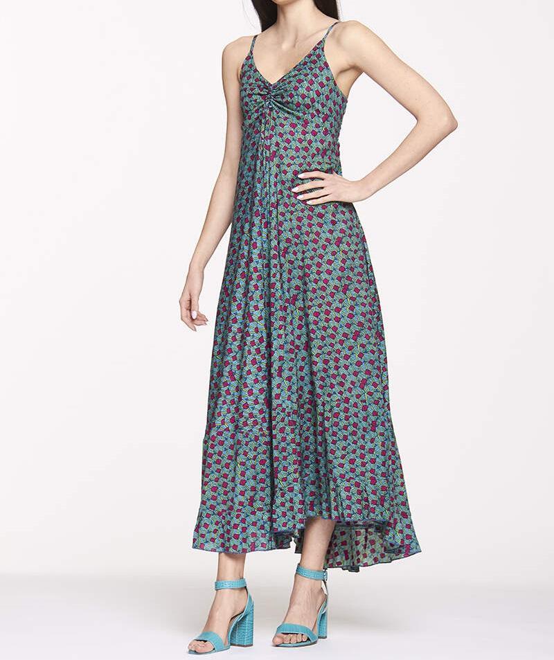 Robe longue en rayonne | Boutique en ligne de vêtements d'été femmes