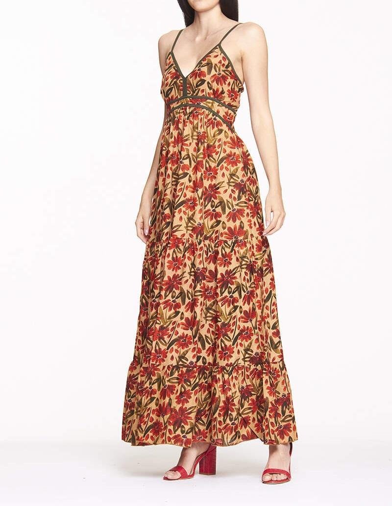 Robe longue en coton naturel | Vente en ligne robes pour femmes