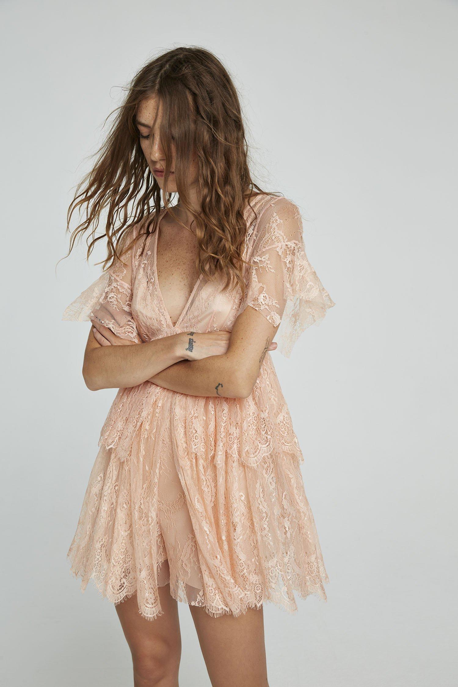 Tutina Grace in pizzo rosa Aniye By