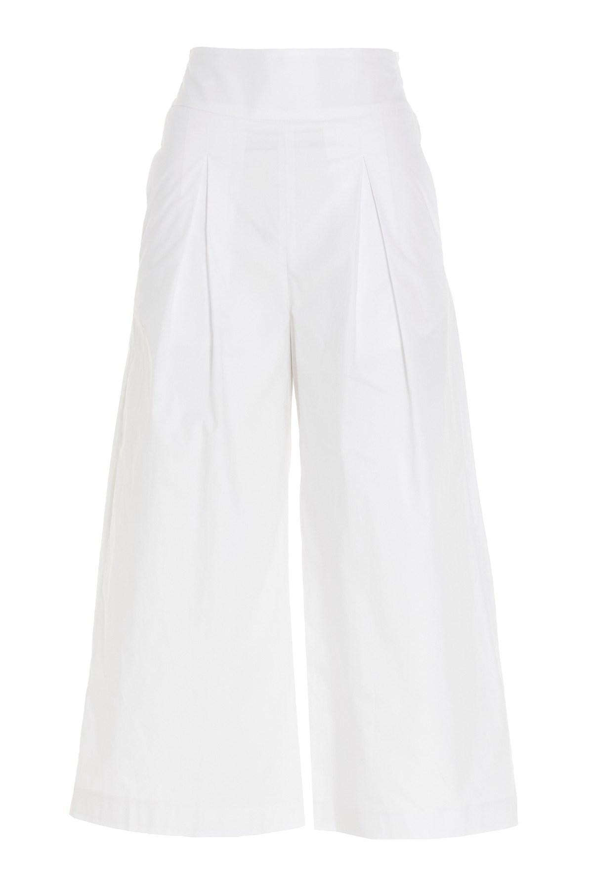 Pantalone Teso 4 cropped ampio bianco Pinko