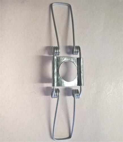 Molla a filo, lunghezza 90 mm con foro centrale Ø10