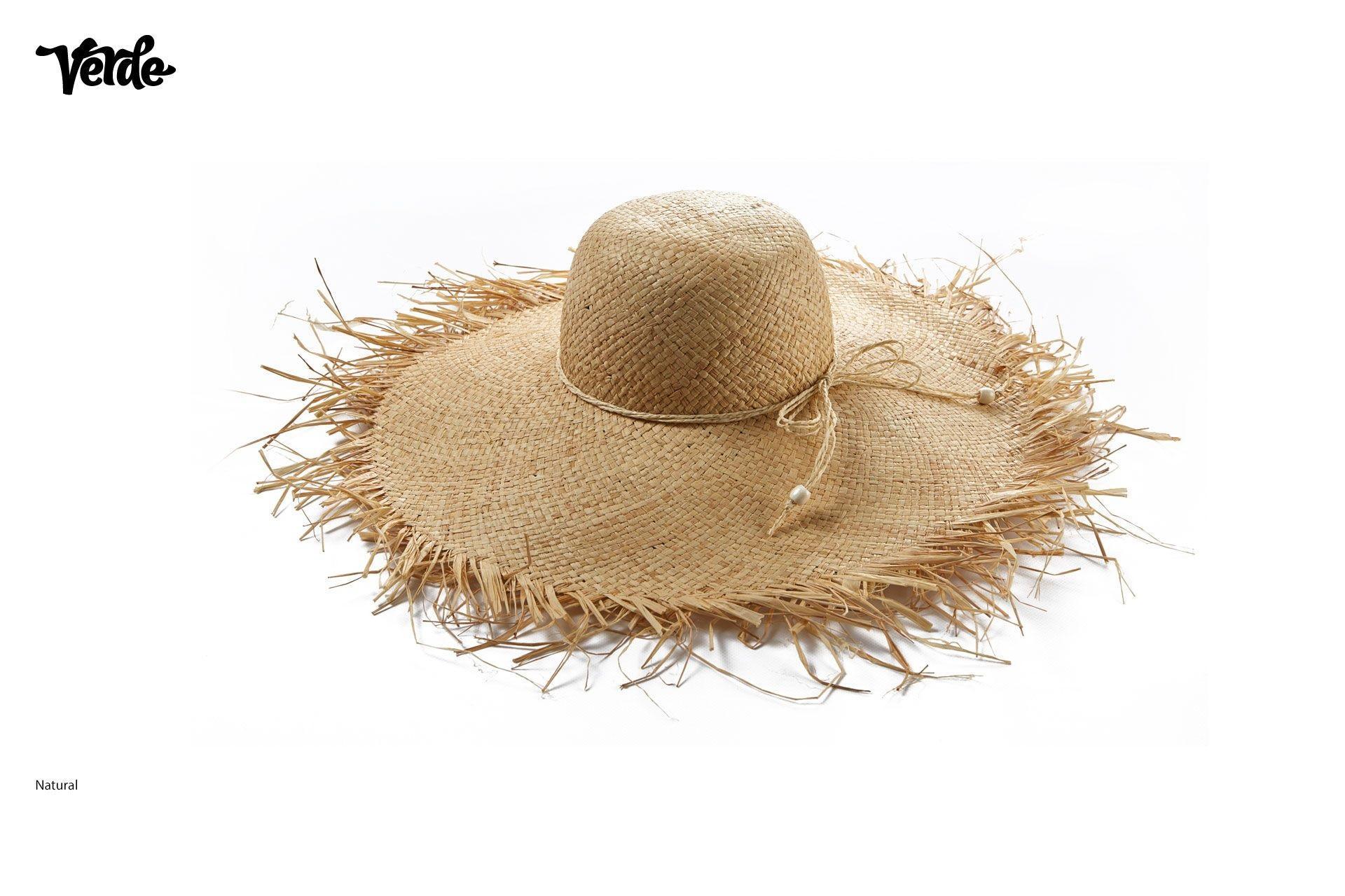 Grand chapeau d'été. | Chapeaux de paille pour femmes avec franges