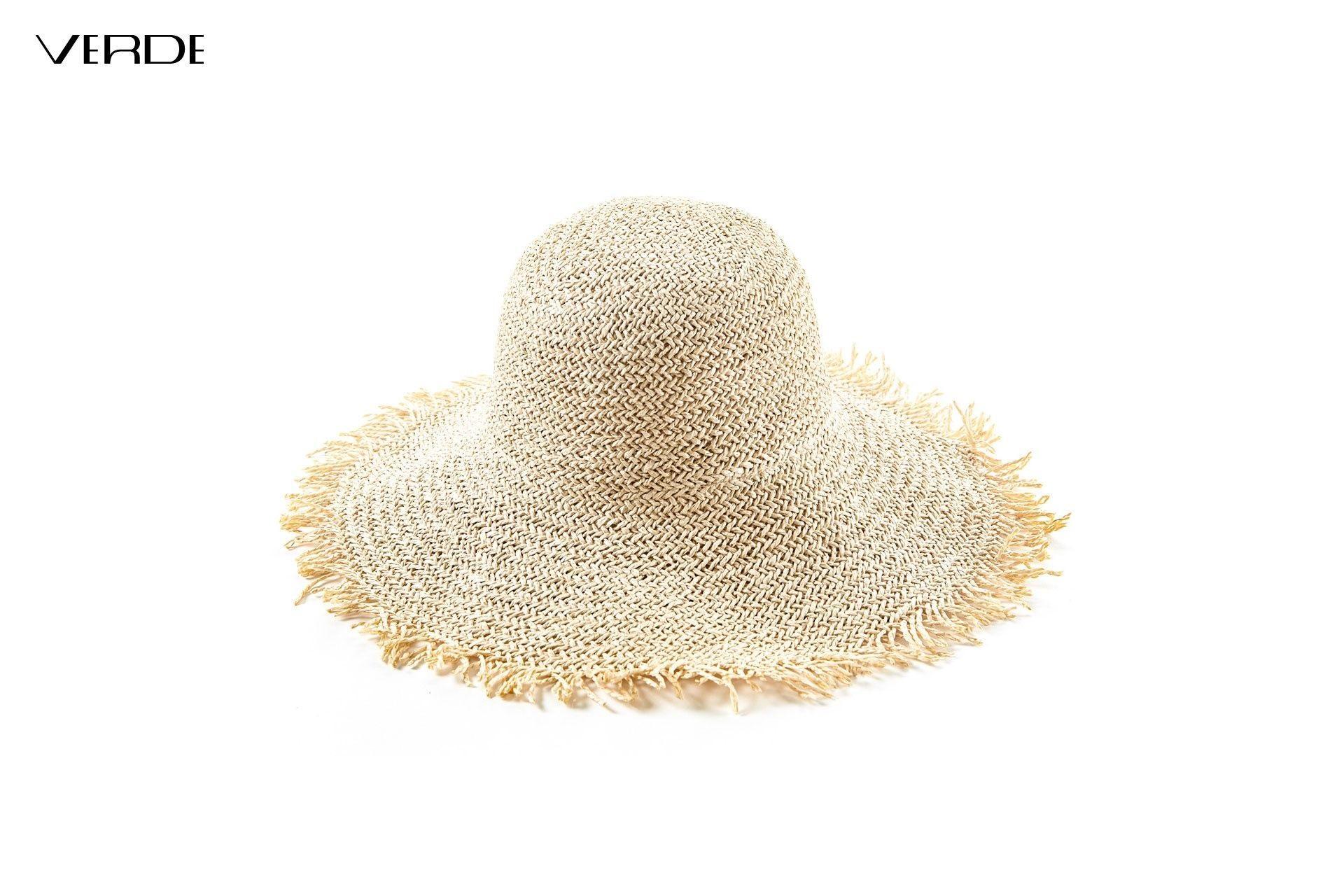Women Natural Straw Hats Fringe