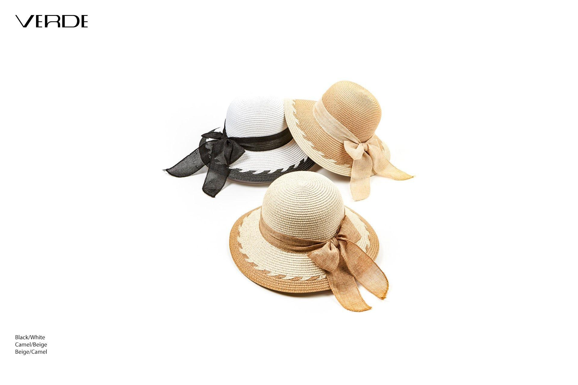 Women's straw hat rigid. Online sale