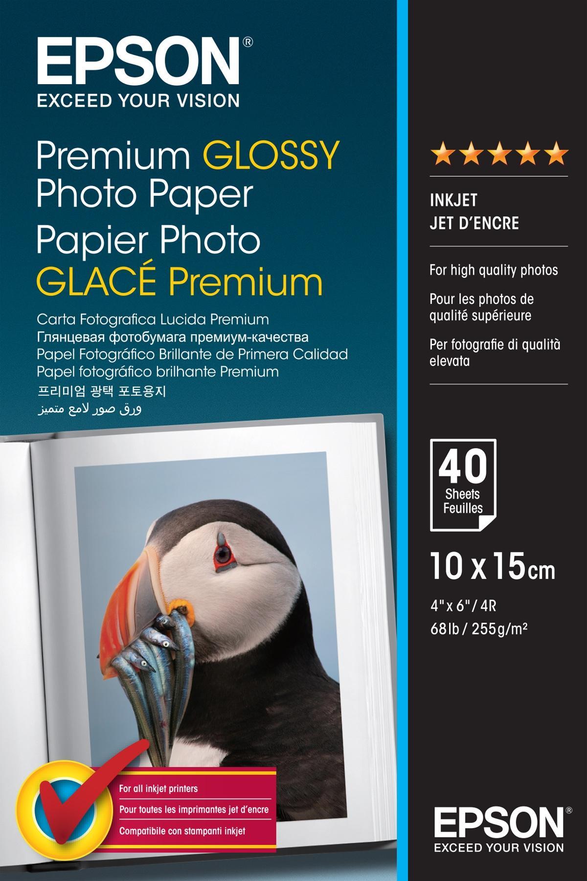 Epson Premium Glossy Photo Paper - 10x15cm - 40 Fogli