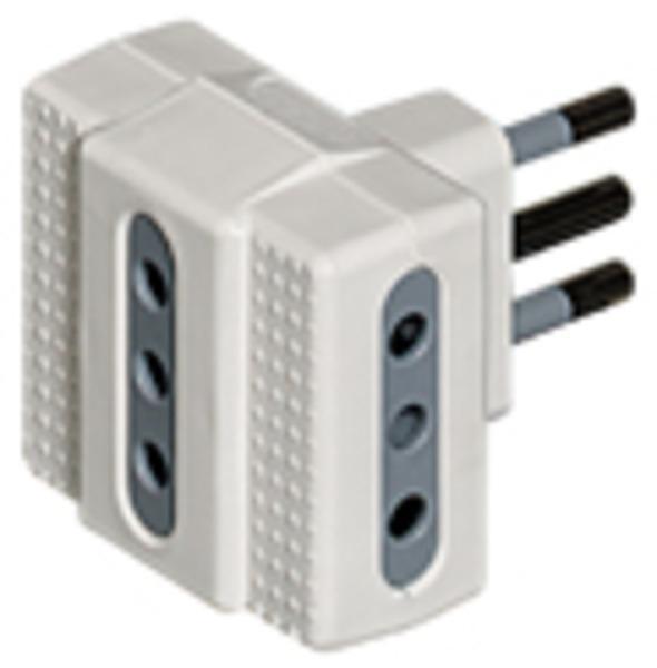 bticino S3603DE adattatore per presa di corrente Bianco