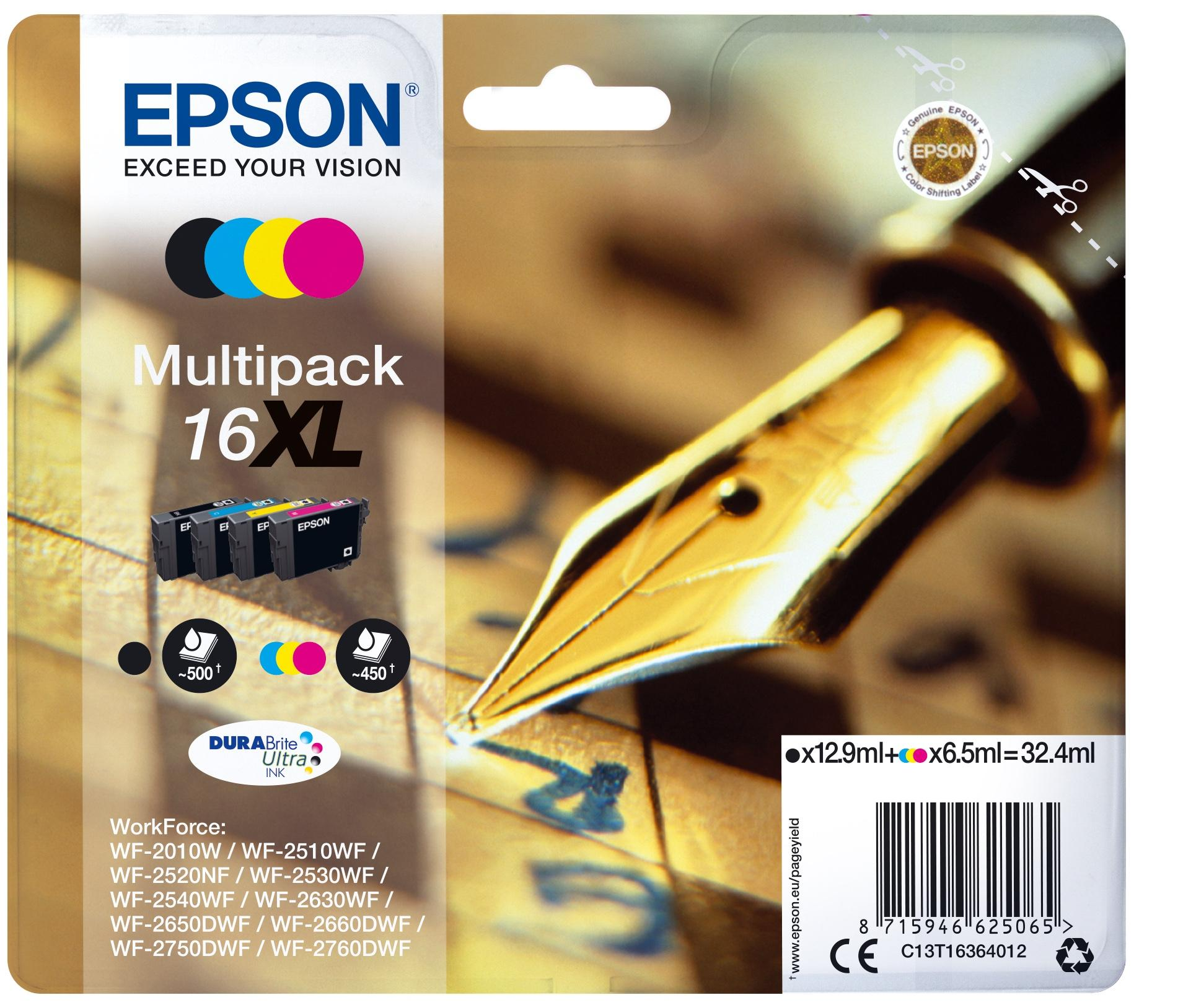 Epson Pen and crossword Multipack Penna e cruciverba 4 colori Inchiostri DURABrite Ultra 16XL