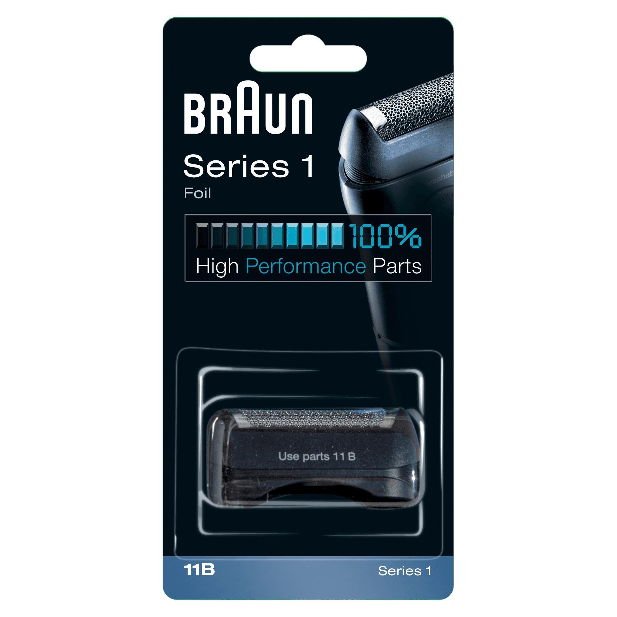 Braun Testina di ricambio 11B Nero - Compatibile con i rasoi della Serie 1