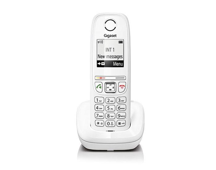 Gigaset AS405 Telefono DECT Bianco Identificatore di chiamata