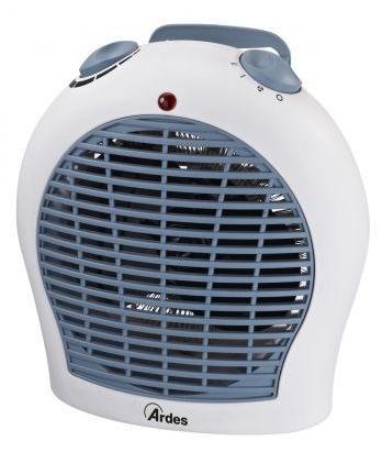 Ardes AR4F03 stufetta elettrica Interno Grigio, Bianco 2000 W Riscaldatore ambiente elettrico con ventilatore