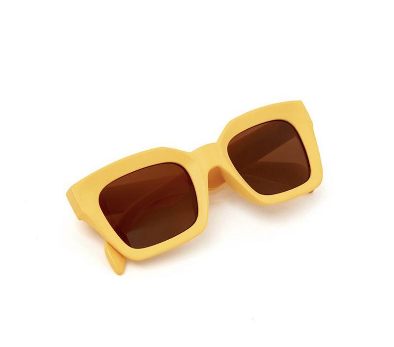 Occhiali da sole Bruna squadrati gialli Nalì