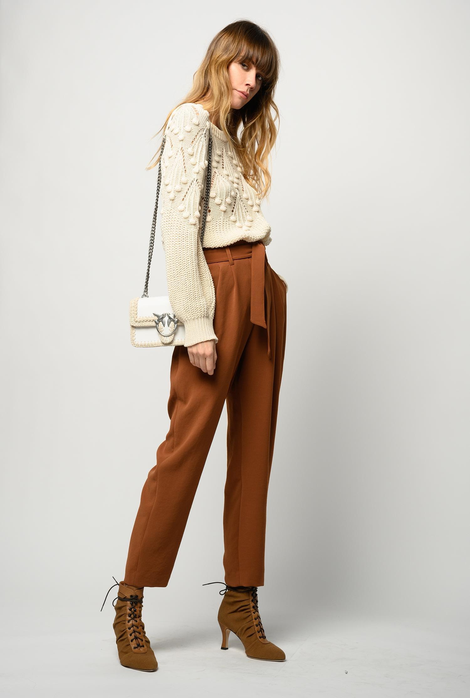 Pantalone Raphaela 2 carrot-fit marrone Pinko