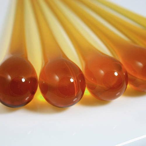 Goccia pendente 16 cm vetro di Murano ambra scuro