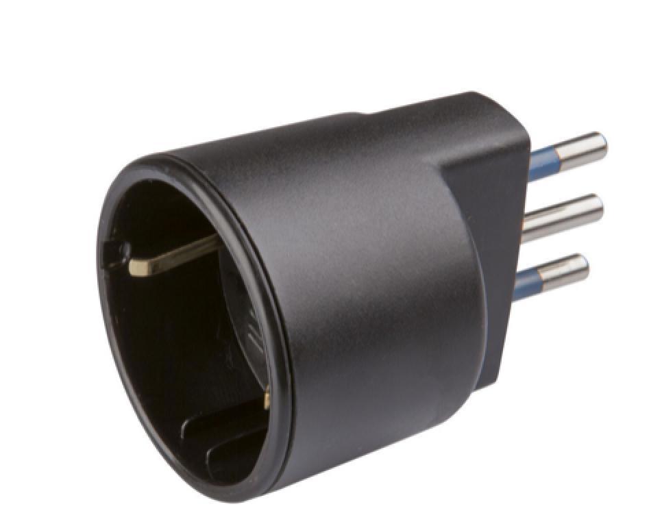 Poly Pool PP0433.1X Tipo L (IT) Tipo L (IT) Nero adattatore per presa di corrente