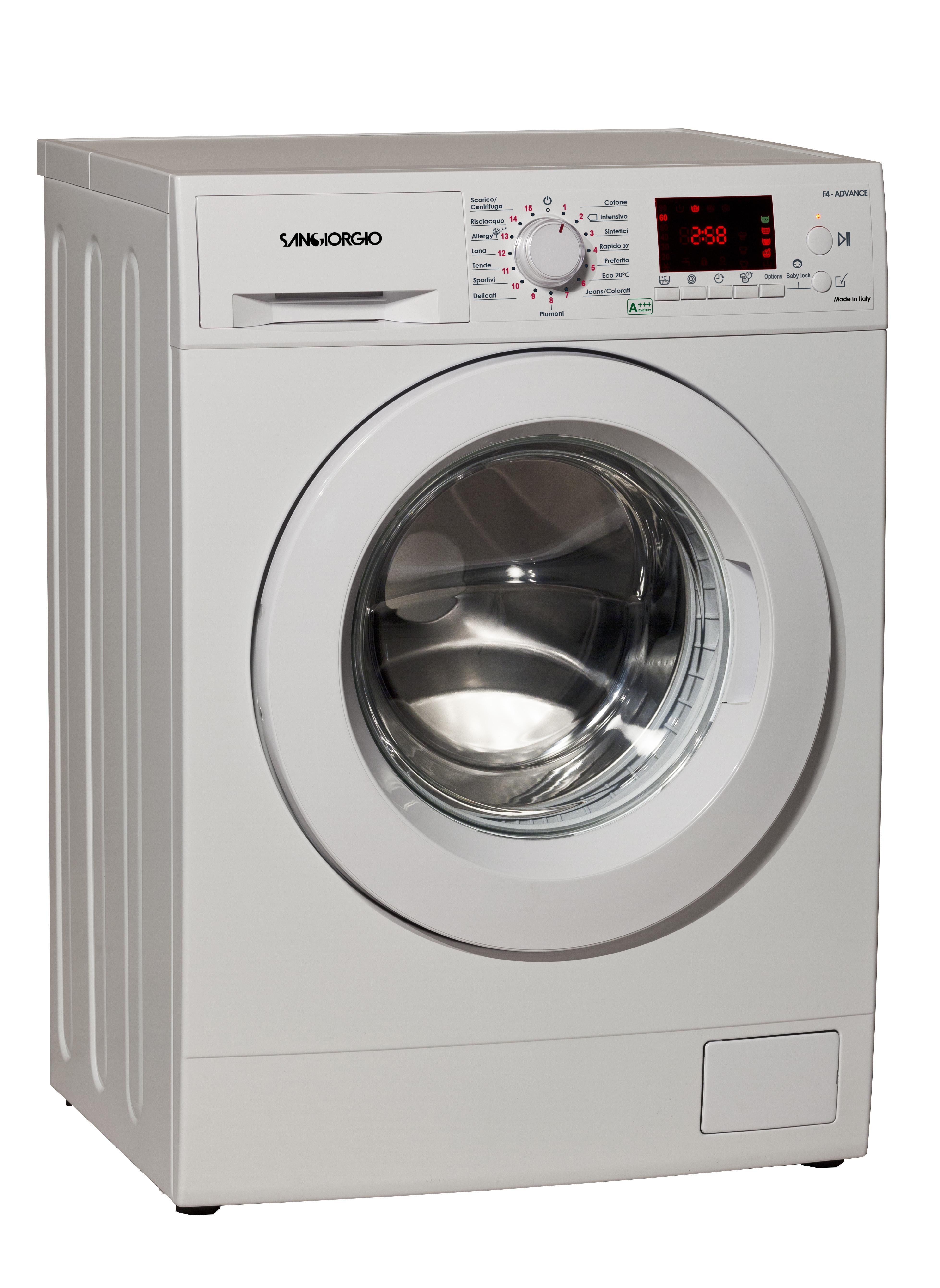 SanGiorgio F1012D lavatrice Libera installazione Caricamento dall'alto 10 kg 1200 Giri/min Bianco