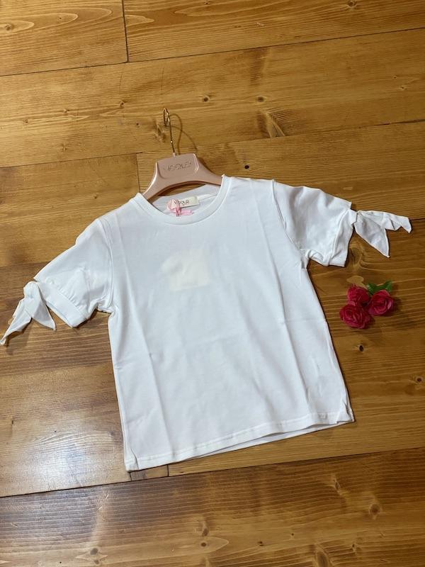 Tshirt Bambina Vicolo manichina annodata