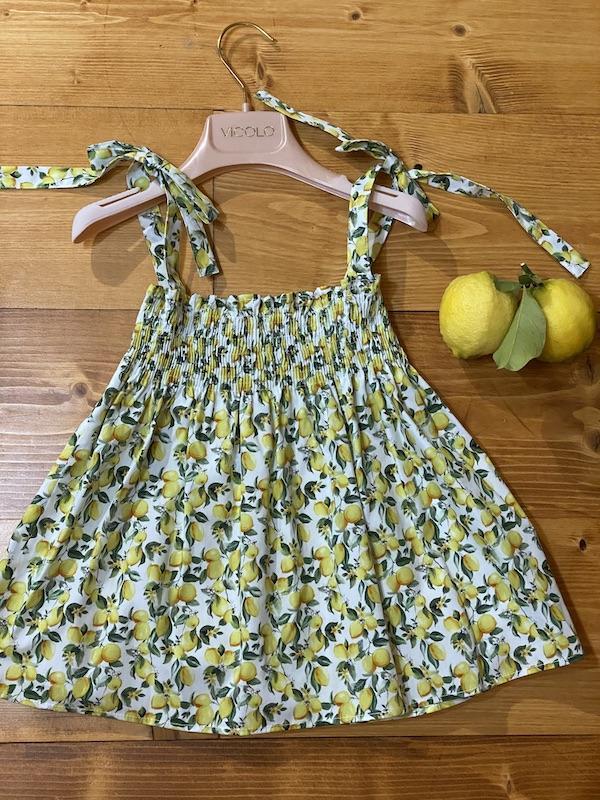 Top Vicolo Bambina fantasia limoni