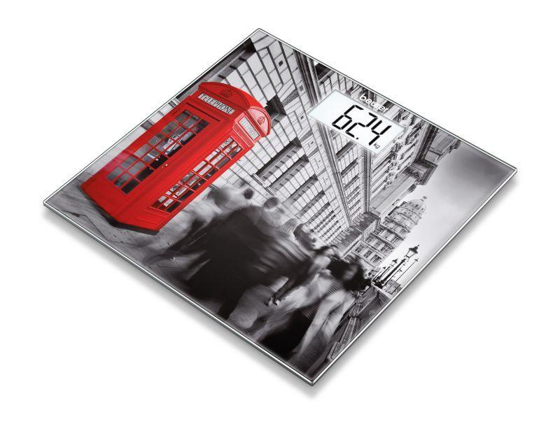 Beurer GS203 London Quadrato Grigio, Rosso Bilancia pesapersone elettronica
