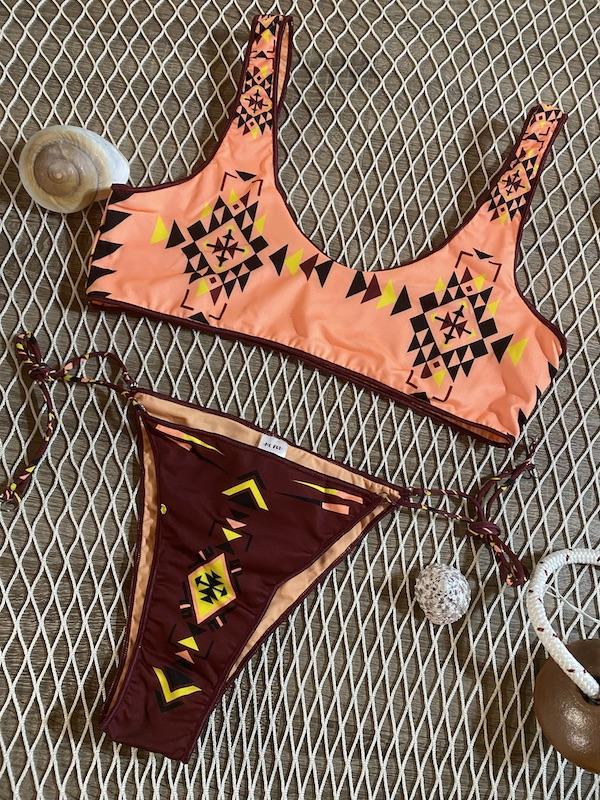 Bikini top e slip laccetto regolabile Gran Bazar Me Fui Taglia S