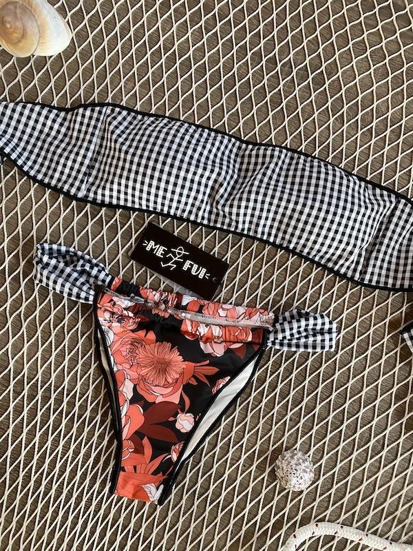 Bikini fascia e slip brasiliano fusciacca regolabile In Bloom Me Fui