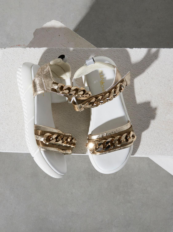 Sandalo bianco con catene Elena Iachi